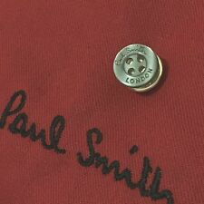 MENS PAUL SMITH LONDON SMOKE GREY SHIRT BUTTONS METAL TIE LAPEL PIN TACK GIFT