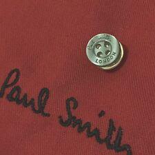 Para hombres Camisa Paul Smith London Gris Humo Botones De Metal Corbata Pin de Solapa Tachuela Regalo
