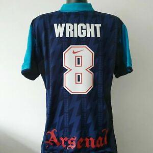 WRIGHT 8 Arsenal Shirt - Large - 1994/1996 - Away Jersey Nike JVC