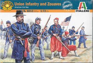 Italeri Union Infantry & Zouaves American Civil War 1861-1865 1/72 Scale No 6012