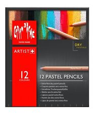 Caran d'ache pastel crayons-boite de 12 assortiment couleur fine dry pastel crayons