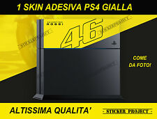 ADESIVI SKIN PS4 ROSSI 46 GIALLA Stickers PlayStation Natale Christmas