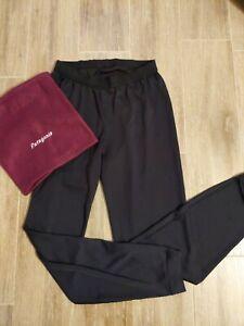 Black PATAGONIA Capilene Pants Liner polyester Base Layer Vtg 90s MENS S