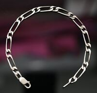 Bracelet neuf gourmette pour homme en argent massif vieilli maille 1+1 rare