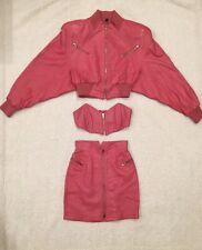 Michael Hoban Leather Skirt Set - Vintage