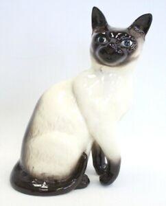 Vintage BESWICK ENGLAND Large 25cm Tall SIAMESE CAT Pottery Kitten FIGURE - G23