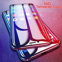 iPhone 6 7 8P X XS MAX Anti Fingerprint 10D Tempered Glass Screen Protector Film