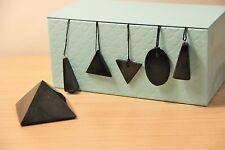 Conjunto Pirámide Shungite Colgantes De Protección Piedra EMF pyramid pendants