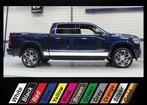 2pcs stickers for Dodge RAM 1500 graphics side stripe decal sticker #20
