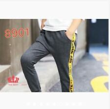 OFF WHITE JOGGER PANTS FIT UP TO CL #8901 (LH) - DARK GRAY/YELLOW