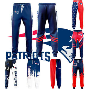 New England Patriots Men Sweatpants Casual Trousers Jogging Training Pants S-5XL