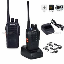 2x BaoFeng BF-888S UHF 400-470MHz Walkie Talkie 16 Channels Amateur 2 Way Radio