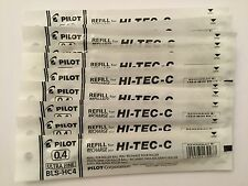 PILOT HI-TEC-C GEL PEN REFILL 0.4mm (12 black)