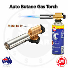 Butane Gas Blow Torch Camping BBQ Flame Fire Gun Metal Body Welding Soldering
