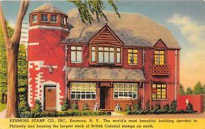 H41/ Kenmore New York Postcard 1940 Linen Stamp Company Philatelic Postage