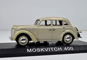 Moskwitsch 400 beige Maßstab 1:43 von atlas