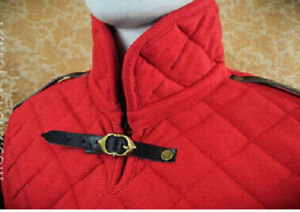 Medieval cotton Padded Reenactment theater Gambeson Collar costume