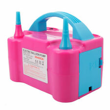 110V 600W Two Nozzle High Speed Electric Balloon Inflator Pump Rose Red + Blue
