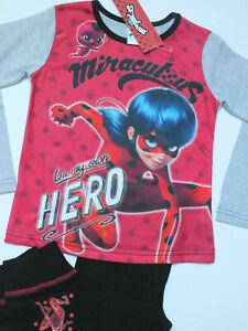 NEU Miracoulus Ladybug Mädchen Schlafanzug PYJAMA Set 4-5Y 104 110 2teilig