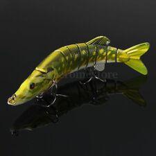 "5""/ 12.5cm Multi-jointed Pike Muskie Fishing Lure Fakebait Hard Hook Fish Baits"