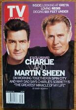 """TV Guide 3/2/02 Charlie & Martin Sheen, """"Six Feet Under,"""" Greta Van Susteren"""
