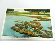 Vintage Postcard Sapphire Pool Biscuit Basin Yellowstone National Park Wyoming