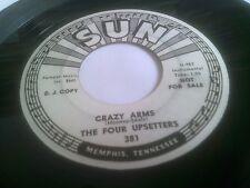"The Four Upsetters Crazy Arms / Midnight Soiree 1962 7"" U.S. Sun 381 DJ Copy"