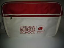 Hogeschool Rotterdan Business School Logo White & Red Messanger Bag
