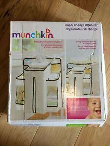 Munchkin Diaper Change Organizer Changing Table Organizer White Brown NIB