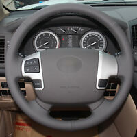 Top Leather Steering Wheel Hand-stitch on Wrap Cover For Toyota Land Cruiser