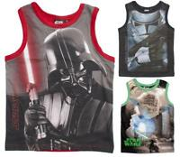 Boys Official Star Wars Darth Vader Yoda Stormtrooper Vest Top 4 to 10 Years