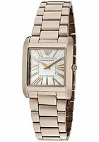 Emporio Armani Women's AR2051 Super Slim Rose Mother Of Pearl Watch (FreeShip)