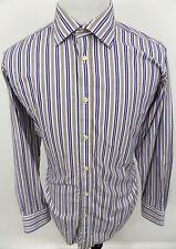 Tailorbyrd Men's Button Front Long Sleeve Striped Dress Shirt sz XL