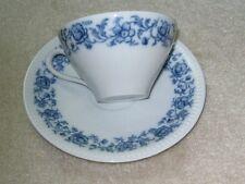 Schirnding Qualitats Porzellan Bavaria Porcelain Blue Flowers Cup & Saucer
