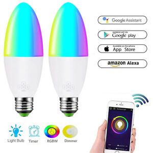 WiFi Smart Light Bulb Dimmable Switch LED E27 Lamp For Google Home Alexa Bulb UK