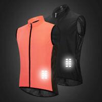 Men's Cycling Vest Sleeveless Sports Coat  Breathable Reflective Bike Top Gilet