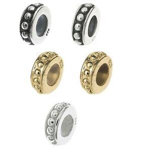 2pcs Sterling Silver Round Dots Stopper Rubber Bead for European Charm Bracelet