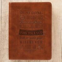 Journal Lux-Leather Be Strong & Courageous Josh 1:9 (Hardback or Cased Book)
