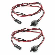 2 pcs ATX Computer Case Power Supply Reset Switch Cable Cord LW