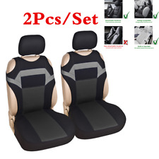 2xCar Front Seats Cover Polyester Fabric Breathable Chair Cushion T-shirt Design