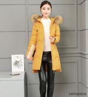 womens winter hooded cotton zip Korean hooded solid slim padded down jacket 2019