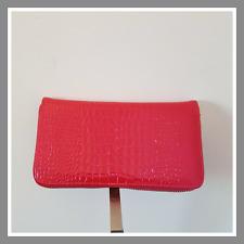 Prix mini portefeuille compagnon porte monnaie rose verni façon croco