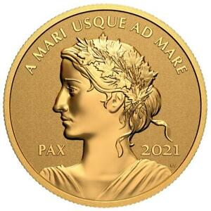 Kanada - 200 Dollar 2021 - Peace Dollar - Ultra High Relief - 1 Oz Gold RP