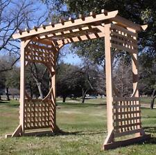 BRAND NEW COLONIAL STYLE CEDAR WOOD GARDEN ARBOR PERGOLA ARCH WITH 7 FT OPENING