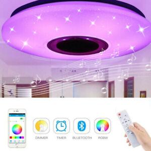 60W Lampada da Soffitto Plafoniera LED RGB Dimmerabile bluetooth Altoparlante