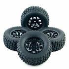4Pcs 1:10 Ruber Tires&wheels Rims 12mm Hex For Short Course RC TRAXXAS SlASH Car
