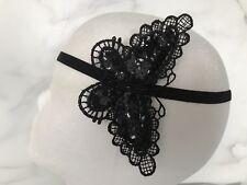 Black Bat Butterfly Halloween Party Headband Fancy Dress VAMPIRE Costume FREE PP