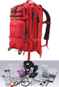 First Responder EMS EMT 200 Supplies Trauma Kit Medium Transport Backpack