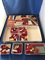 Vintage Lego Building Toy 285 Piece Set w/ Box No 285 Rare w/ Lego Bins