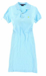 Ralph Lauren Damen Kleid Dress Gr.XS (DE 34) Polokleid Sport-Serie Blau 116230